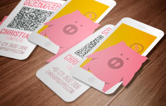 PiggyPeg - Cartão de visita