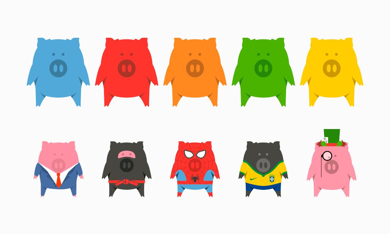 PiggyPeg - Mascote