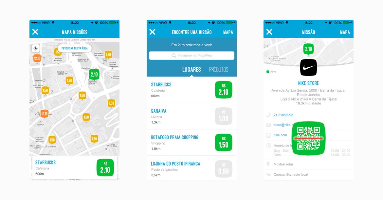 PiggyPeg - App Navegação